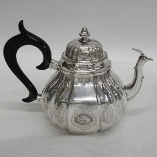 Antique German Silver Teapot