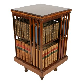 Maple & Co Inlaid Revolving Bookcase
