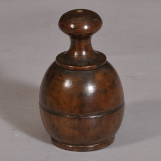 Antique Treen 19th Century Fruitwood Salt Shaker