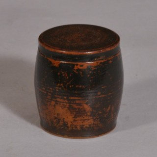Antique Treen 19th Century Sycamore Storage Barrel