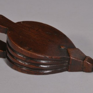 Antique Treen 19th Century Miniature Mahogany Bellows