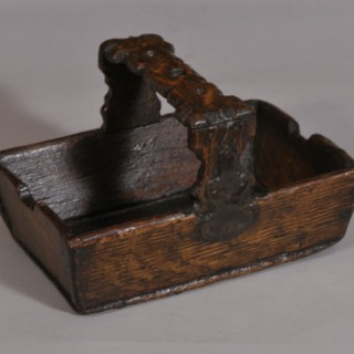 Antique Treen 19th Century Oak Berry Trug
