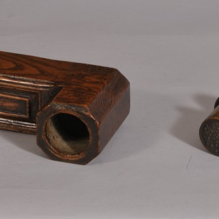 Antique Treen 18th Century Ash Rasp for Crushing and Grinding Tobacco Leaves