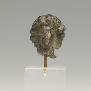 Roman Bronze Head of a Youth