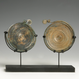 Pair of Bronze Age Spiral Pendants