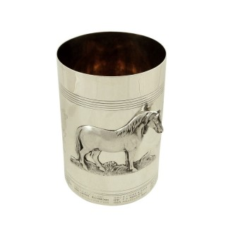 Large Antique Victorian Sterling Silver Presentation Cup 1880 - Suffolk Horse Society