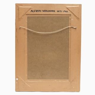 MALE NUDE STUDY BY ALFRED AARON WOLMARK 1877-1961