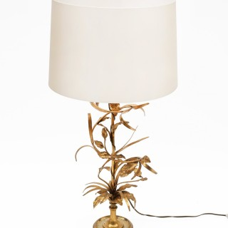 1940s GILT TABLE LAMP SIGNED MAISON CHARLES