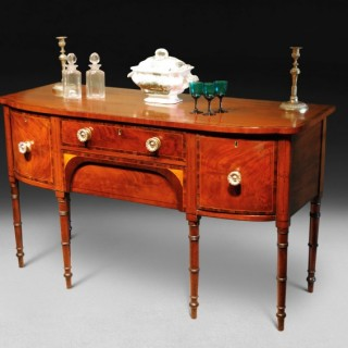 Regency Mahogany and Inlaid Bowfronted Sideboard