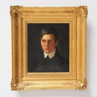 PORTRAIT OF A YOUNG  MAN – DANISH SCHOOL LATE 19th CENTURY