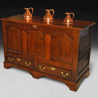 George III Period Oak Mule Chest
