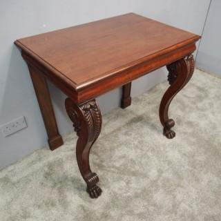 George III Mahogany Hall Table