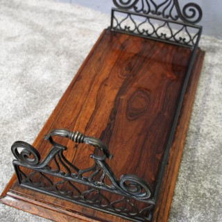 George IV Rosewood and Bronze Book Trough