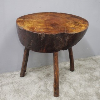 Rustic Elm Side Table