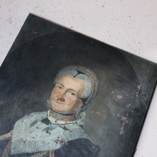 An 18thC German School Oil on Canvas Portrait of Anna Margaretha Kesel (1727-1798); c.1786