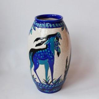 'Biches Bleues' Vase