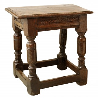 An English Joynt Oak Stool