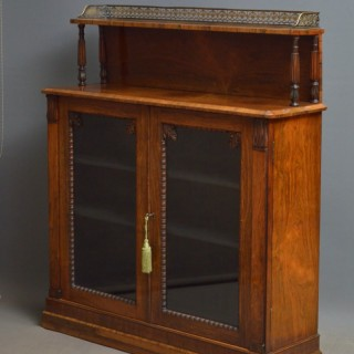 William Iv Rosewood Chiffonier Bookcase