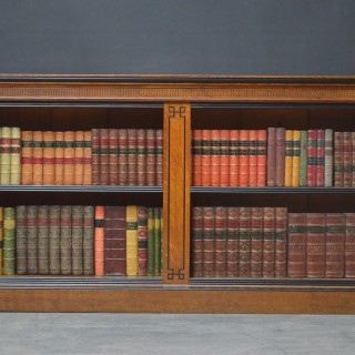 Victorian Oak Low Open Bookcase