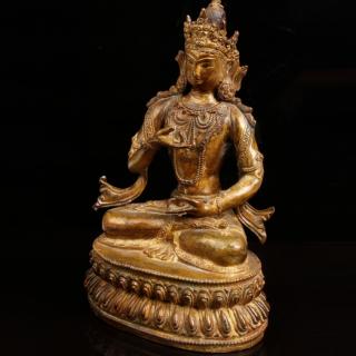 TIBETAN BRONZE STATUETTE OF BUDDHA