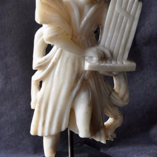 Alabaster Carving of St Cecilia