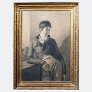 A Consulat large scale drawing of a young man