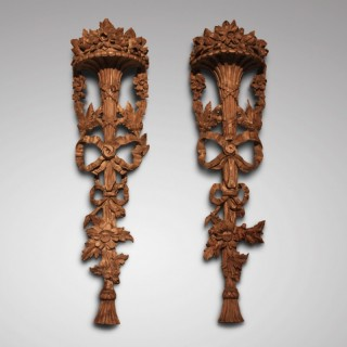 Pair of Rococo carvings