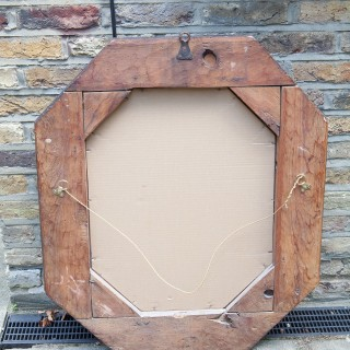A pair of 17th century octagonal mirrors