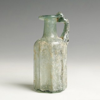 Roman Light Blue Glass Bottle