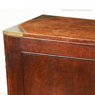Oak Brass Bound Campaign Cabinet