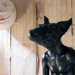 Beth Carter; Sitting Dog; Bronze; Edition 2 of 15