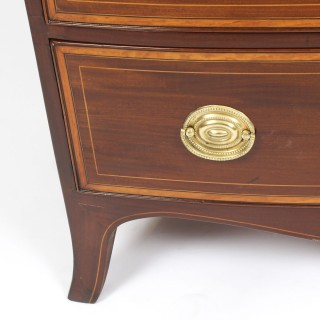 Antique Regency Period Mahogany Chest Drawers & Slide 19th Century