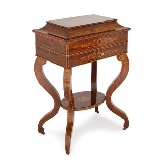 French Restauration period rosewood marquetry cabinet