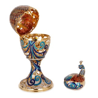 Fabergé style bejewelled and enamelled gold egg by Asprey