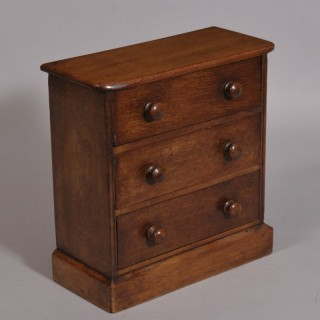 Antique Late Victorian Miniature Mahogany Chest of Drawers