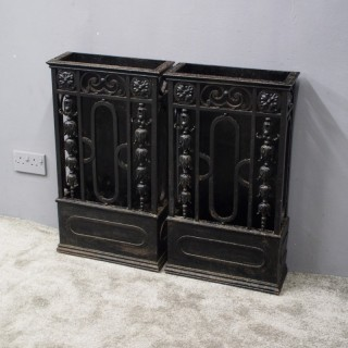 Pair of Cast Iron Stick Stands from Skibo Castle