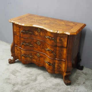 North Italian Walnut Serpentine Commode