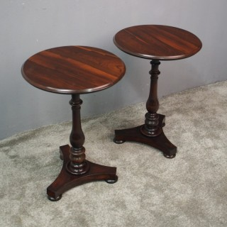 Pair of Victorian Rosewood Wine Tables