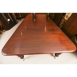 Antique 19ft William IV Mahogany Extending Dining Table C1830