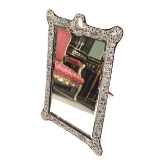 Antique Monumental Victorian Silver Easel Mirror John & William Deakin 1901