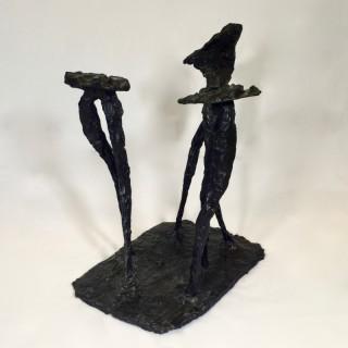 'Winged Figures', bronze