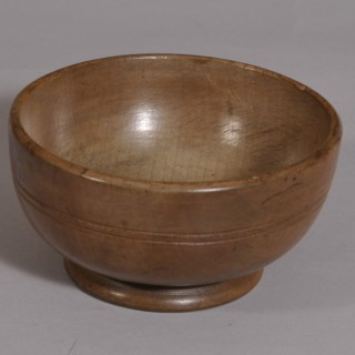 Antique Treen 19th Century Sycamore Cawl Bowl