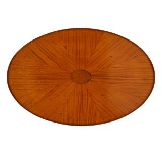 Satinwood and mahogany parquetry circular side table