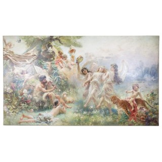 'Happy Arcadia' large mythological oil painting by Makovsky