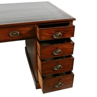 Georgian Mahogany Partner's Desk