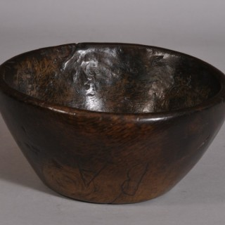 Antique Treen 18th Century Welsh Sessile Oak Bowl