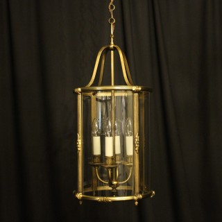 French Gilded Bronze 4 Light Antique Lantern