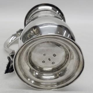 George III Silver Lidded Tankard