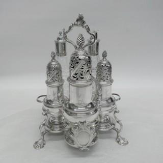 George III Silver Warwick Cruet