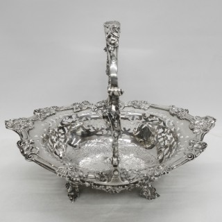 Antique Georgian Silver Basket
